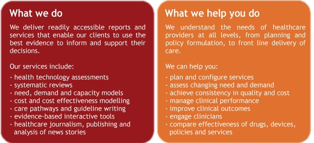 Bazian what we do, health technology assessments, systematic reviews, need demand and capacity models, cost effectiveness modelling, care pathways, guideline writing, evidence-based interactive tools, healthcare journalism, commissioning support